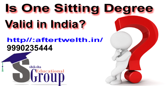 is one sitting degree valid in india?