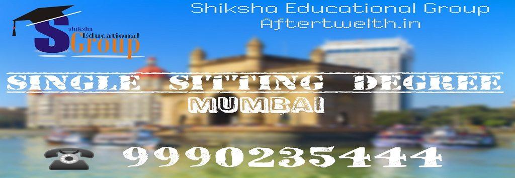 Single sitting degree Mumbai